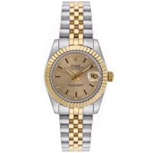 Rolex Datejust Automatic Two Tone Stick Markers with Golden Dial Mid Size-1
