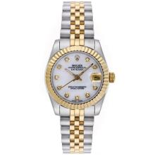 Rolex Datejust Automatic Two Tone Diamond Markers with MOP Dial Mid Size