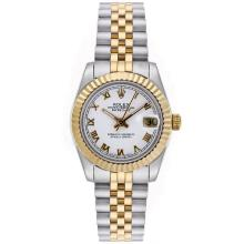 Rolex Datejust Automatic Two Tone Roman Markers with White Dial Mid Size-2