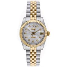 Rolex Datejust Automatic Two Tone Diamond Markers with Computer Dial Mid Size