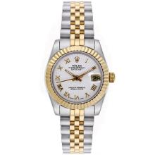 Rolex Datejust Automatic Two Tone Roman Markers with White Dial Mid Size-1
