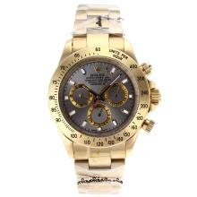Rolex Daytona Automatic Full Gold Stick Markers with Gray Dial