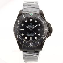 Rolex Sea Dweller Swiss Cal 3135 Movement Full PVD with Black Dial Ceramic Bezel