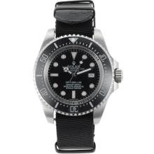 Rolex Sea Dweller Automatic Ceramic Bezel with Black dial-Nylon Strap