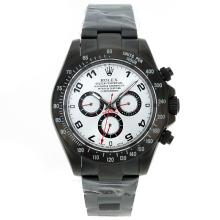 Rolex Daytona II Automatic Full PVD Number Markers with Silver Dial Sapphire Glass