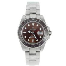 Rolex GMT-Master II Automatic Ceramic Bezel with Brown Dial S/S-Sapphire Glass