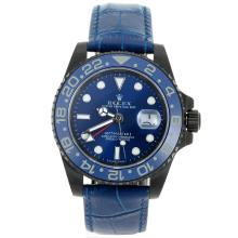 Rolex GMT-Master II Automatic PVD Case Ceramic Bezel with Blue Dial Sapphire Glass