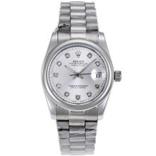 Rolex Datejust Automatic Diamond Marking with Silver Dial Sapphire Glass-1