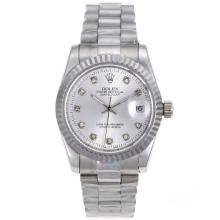 Rolex Datejust Automatic Diamond Marking with Silver Dial Sapphire Glass