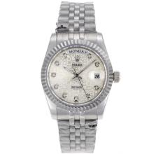 Rolex Day-Date Automatic Diamond Marking with Computer Dial S/S-Sapphire Glass