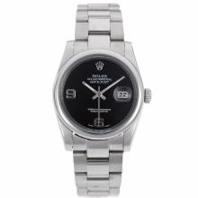 Rolex Datejust Automatic With Black Dial S/S-1
