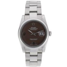 Rolex Datejust Automatic With Brown Dial S/S-1