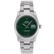 Rolex Datejust Automatic With Green Dial S/S-1