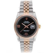 Rolex Datejust Automatic Two Tone With Black Dial