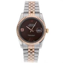Rolex Datejust Automatic Two Tone With Brown Dial