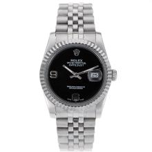 Rolex Datejust Automatic With Black Dial S/S