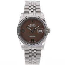 Rolex Datejust Automatic With Brown Dial S/S