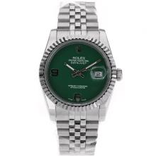 Rolex Datejust Automatic With Green Dial S/S