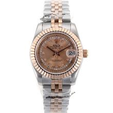 Rolex Datejust Automatic Two Tone Diamond Markers with Rose gold Dial