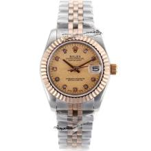 Rolex Datejust Automatic Two Tone Diamond Markers with Golden Granite Dial
