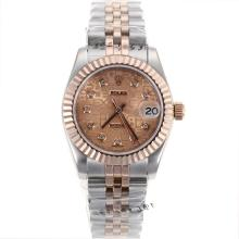Rolex Datejust Automatic Two Tone Diamond Markers with Rose Gold Computer Dial