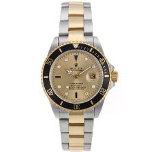 Rolex Submariner Automatic Two Tone with Golden Dial