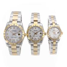 Rolex Datejust Automatic Two Tone Diamond Bezel Roman Markers with Silver Dial Sapphire Glass-1